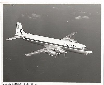 Vintage United Airlines Airlines Photo Photograph of Airplane DC-7 #3