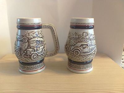 1982 Handcrafted in Brazil Antique Cars Collectible Mini Stein