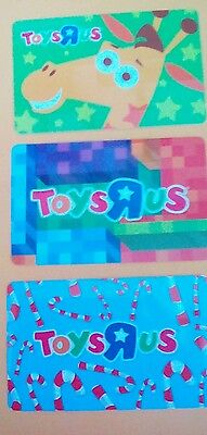 Toys R Us Gift Cards Lot of Three  2016, Collectible Mint  No Value