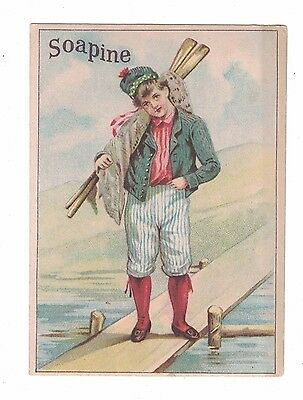 Soapine Kendall Mfg Co. Young Man with Oars