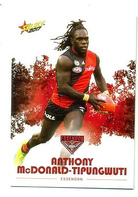 2017 AFL Select Footy Stars common card 061 Anthony McDonald-Tipungwuti-Essendon