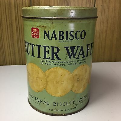 Vintage Nabisco Butter Wafers ORIGINAL Advertising Tin New York, NY!!!