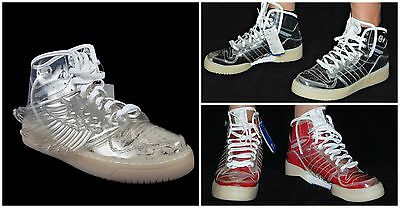 Adidas Jeremy Scott Obyo Clear Wings Men's High Top  Sneakers Shoes Size 11