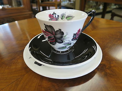 Royal Albert Masquerade Trio -NB. Black Saucer and Shaped Handle.