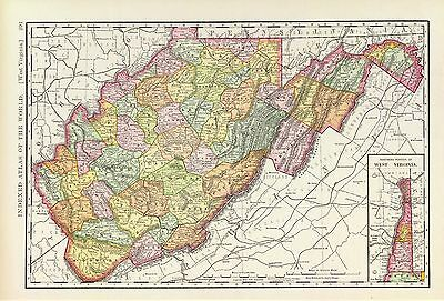 140 maps WEST VIRGINIA state PANORAMIC old genealogy HISTORY teaching atlas DVD