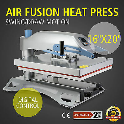 "Clamshell Air Fusion Heat Press Transfer T-Shirt Sublimation Machine 16"" x 20"""