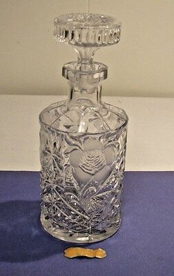 Crystal Glass Bottle Decanter With Stopper Handmade Lead Crystal Made In Italy