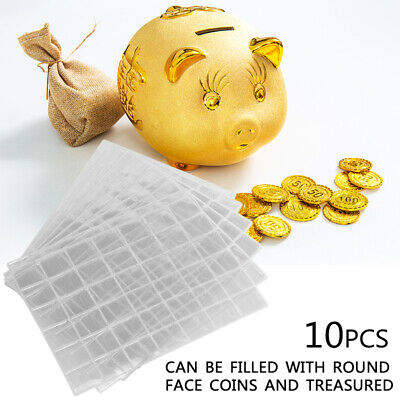 10 pcs Coin Pages 42 Pockets Coin Holder Collection Album Sleeve Storage Sheets