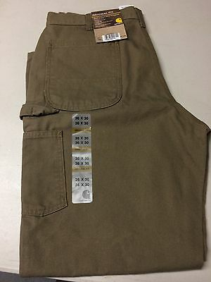 Carhartt Washed Work Dungaree Jeans Size 36x30 NWT