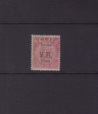 "Fiji Sg 18; 1874 12c on 6c Rose ""VR"" Gothic Mint.cv £900"