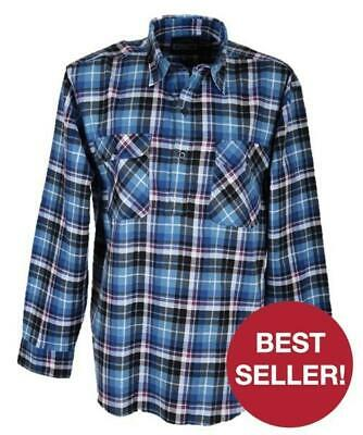 Milton Closed Front Flannelette Shirt - S to 2XL - Assorted Colours