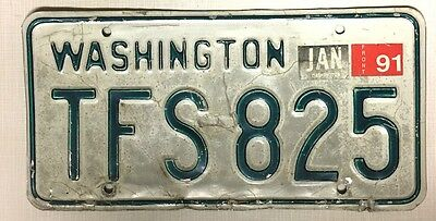 WASHINGTON   1991 License Plate
