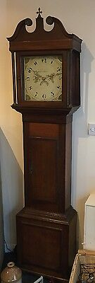 Oak Antique chiming Longcase Grandfather Clock shrewsbury maker