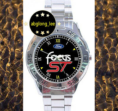 NEW Ford Focus ST Muscle Car CUSTOM CHROME MEN'S WATCH WRISTWATCHES