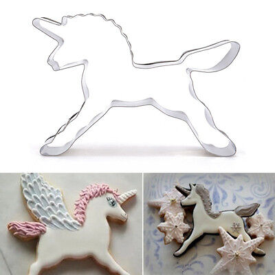 cool Unicorn Horse Cookies Cutter Mold Biscuit Pastry Baking Animal Bakery Tool