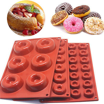 All Baking Silicone Donuts Muffin Loaf Pan Cup Cake Non-Stick Tray Mould Bakewae