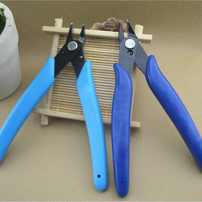 Hot Mini Durable Bevel Electronic Pliers Wire Cable Cutter Tool Color Random UK