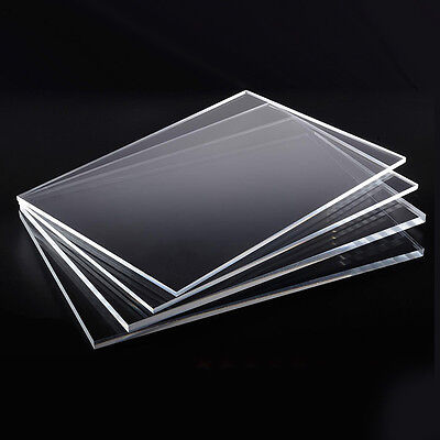 1-4mm Clear High Transparency Perspex Acrylic Plastic Plexiglass A5 A4