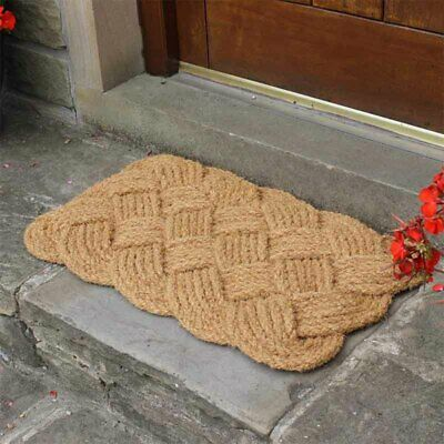JVL Natural Hand Made Knotted Rope Coir Doormat Indoor Outdoor 45cm x 75cm NEW