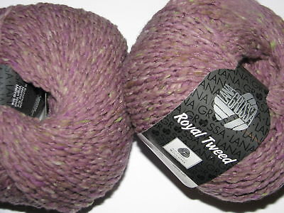 Wolle Kreativ! Lana Grossa - Royal Tweed - Fb. 65 rosenholz/grége 50 g