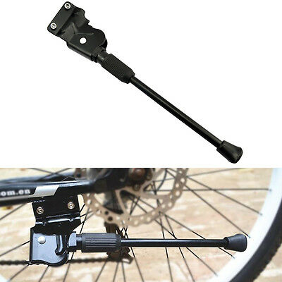 BV Bike Kickstand Rear Adjustable Bicycle Aluminum Side Stand Support Black New