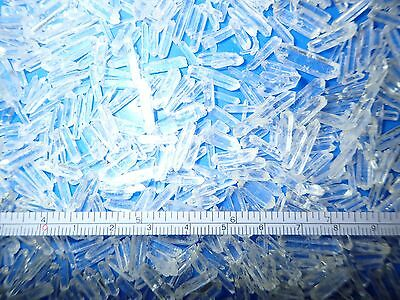 Clear Quartz Point Single terminated 0.1 to 4.1 carat very TINY pieces 60 g Lot