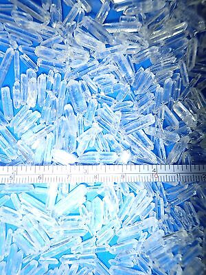 Clear Quartz Point Single terminated 0.1 to 4.1 carat very TINY pieces 200 g Lot