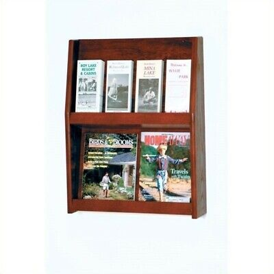 Wooden Mallet 8 Pocket Literature Display in Mahogany Rack and Sorters