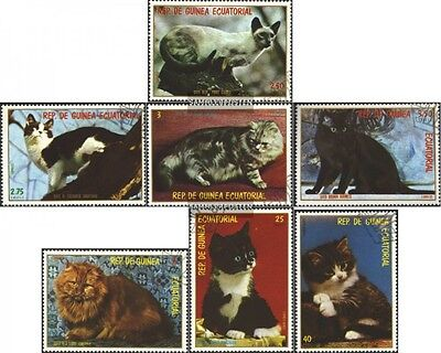Equatorial Guinea 1394-1400 (complete.issue.) fine used / cancelled 1978 Cats