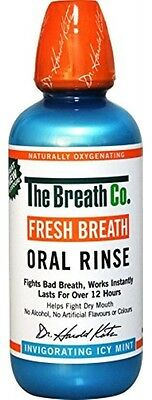 The Breath Co Fresh Breath Oral Rinse 500 ml, Icy Mint (Bad Breath)