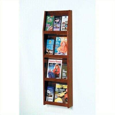Wooden Mallet Literature Display in 12 Pocket Mahogany Rack and Sorters