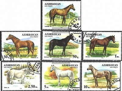 Aserbaidschan 79-85 (complete.issue.) fine used / cancelled 1993 Horses