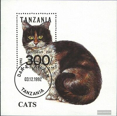 Tanzania block201 (complete.issue.) fine used / cancelled 1992 Cats