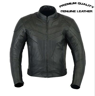 Batman Premium Quality Mens Ce Armour Motorcycle Motorbike Cow Leather Jacket