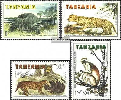 Tanzania 258-261 (complete.issue.) unmounted mint / never hinged 1985 Animals of