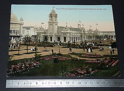 Cpa Giant Post Card French Applied Arts Franco-British Exhibition London 1908