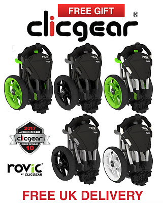 New 2017 Clicgear Rovic RV1C Golf Trolley ALL COLOURS + Free Gifts & Delivery