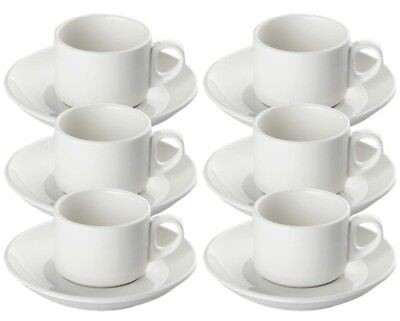 SET OF SIX SET OF 6 VINTAGE STYLE ESPRESSO CUP AND SAUCERS WERO