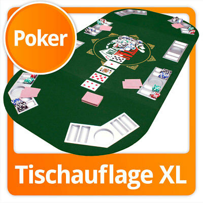 Luxus XXL Pokertischauflage Pokertisch-Auflage Poker-Tischauflage Pokerauflage
