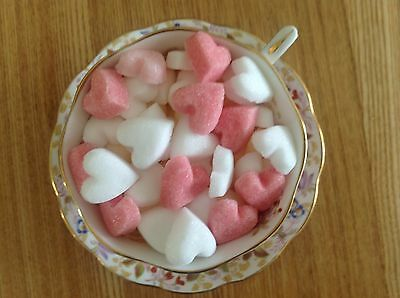 100  Hearts Shaped Sugar Cubes For  Weddings, All Celebrations And Occasions
