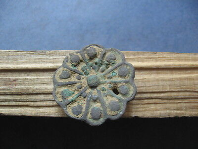 Stylized Flower Ancient Celtic Bronze Floral Belt Application 300-100 B.c.