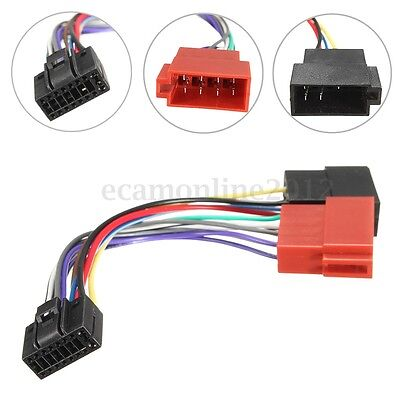 Car Stereo Radio ISO Wiring Harness Connector Cable Wire Loom 16 Pin For KENWOOD