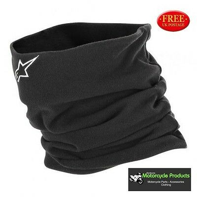 Alpinestars NECK WARMER Black Snood for Motorcycle Helmets Ideal For Winter Ride