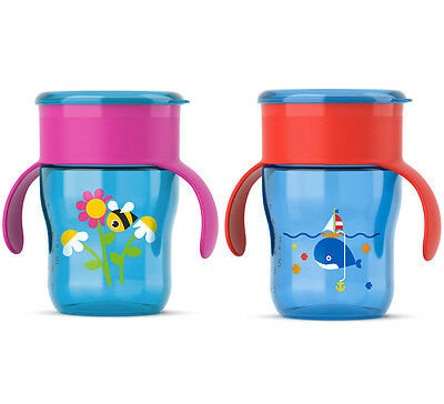 AVENT SCF782/20 NON SPILL PROOF DRINKING SIPPY CUP  BPA FREE 260ml / 9oz / 9m+