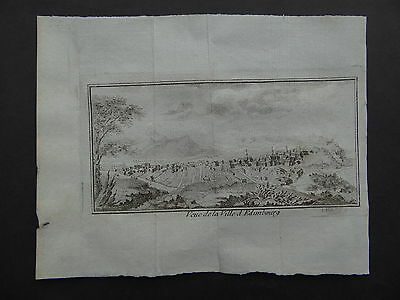 1759 BELLIN  Atlas map view EDINBURGH - Veue de Ville Edimbourg - Scotland