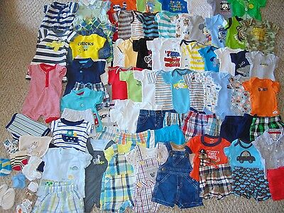 Hugh Lot Boy Clothes size Newborn Summer  Shirts and Shorts Outfits Rompers