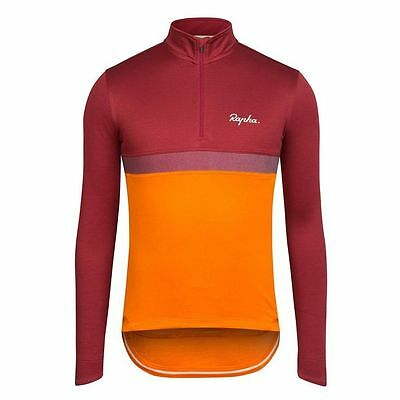 Rapha Orange/Red Long Sleeve Club Jersey. Size X-Small. BNWT.