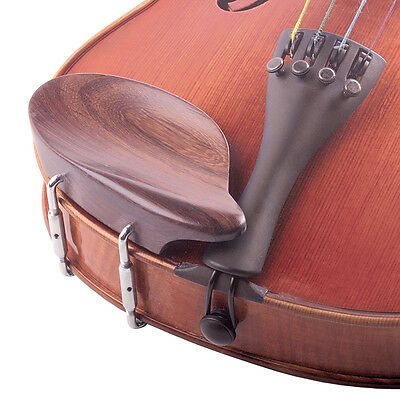 Strobel 3/4-4/4 Violin Rosewood Chinrest: Std Bracket