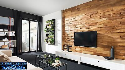 """1 pack 0,43 m2 """"Timber 1"""" Wood effect Decorative Cladding Wall Panels / Tiles"""