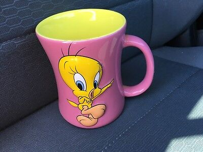 Looney Tunes Tweety Bird Mug - Bad Ol' Puddy Tat - 3D Ceramic Coffee Tea Cup